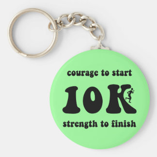 Inspirational 10K Basic Round Button Key Ring