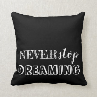 Inspirational 3 Word Quote Black White Reversible Cushion