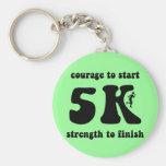 Inspirational 5K Basic Round Button Key Ring