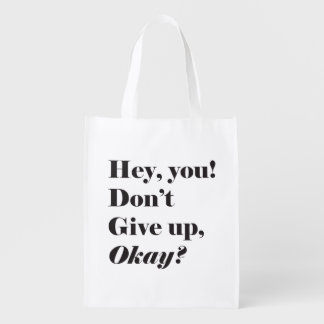 Inspirational and Encouraging quote Market totes