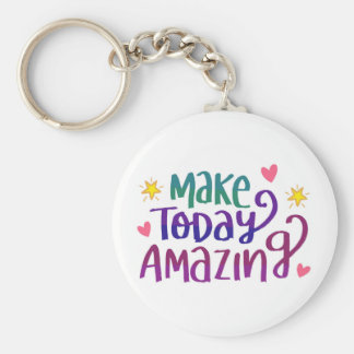 Inspirational and Motivational Quote Basic Round Button Key Ring