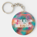 Inspirational and motivational quotes basic round button key ring