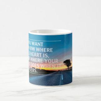 Inspirational and motivational quotes basic white mug