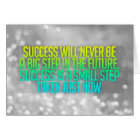 Inspirational and motivational quotes card