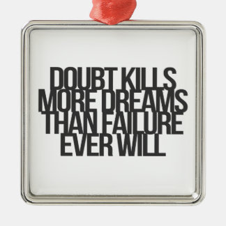 Inspirational and motivational quotes christmas ornament