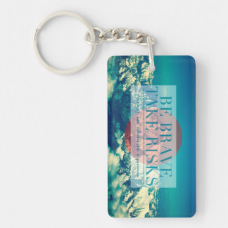 Inspirational and motivational quotes acrylic key chain