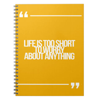 Inspirational and motivational quotes note books