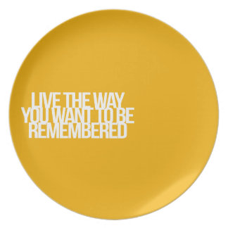 Inspirational and motivational quotes plate