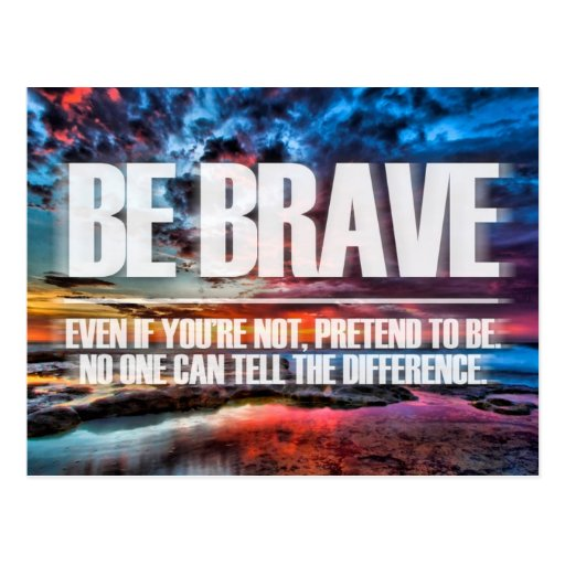 Inspirational and motivational quotes post card