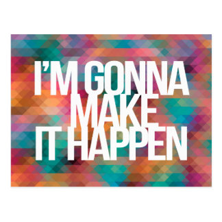Inspirational and motivational quotes postcard