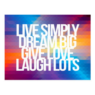 Inspirational and motivational quotes postcards