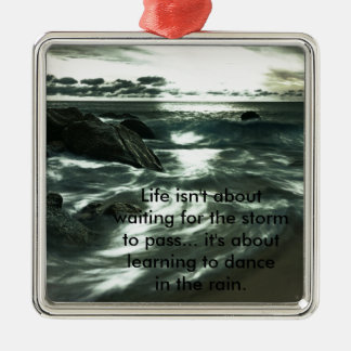 Inspirational and motivational quotes Silver-Colored square decoration