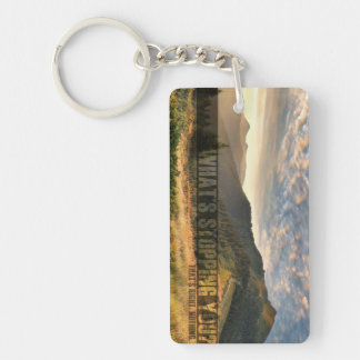 Inspirational and motivational quotes Single-Sided rectangular acrylic key ring