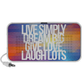 Inspirational and motivational quotes mini speaker