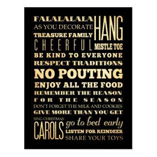 Inspirational Art - Christmas  Carol Postcard