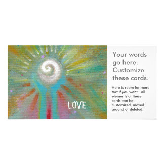 Inspirational art colorful fun modern hope love customized photo card