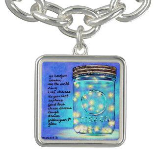 Inspirational Art Firefly Good Luck Charm