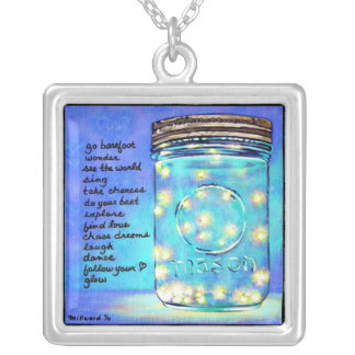 Inspirational Art Firefly Good Luck Pendant