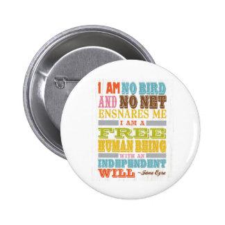 Inspirational Art - Jane Eyre 6 Cm Round Badge