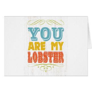 Inspirational Art - Lobster Card