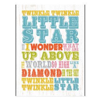 Inspirational Art - Nursery Rhyme Postcard