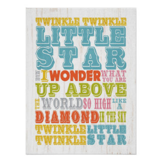 Inspirational Art - Nursery Rhyme Poster