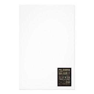 Inspirational Art - Stay Positive. Personalized Stationery