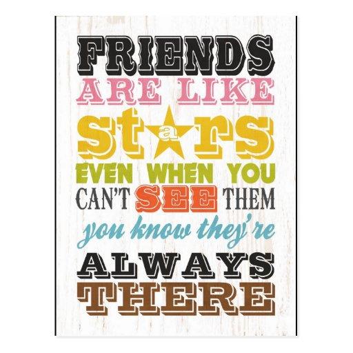 Inspirational Arts - Friends Are Like Stars. Postcards
