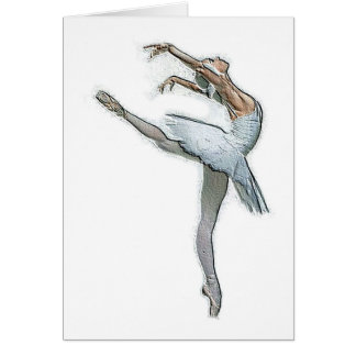 Inspirational Ballet Dancer Card