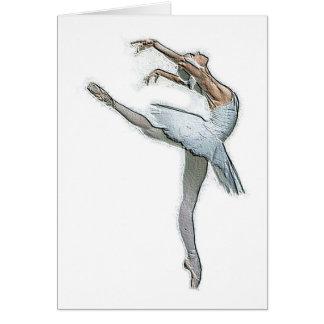 Inspirational Ballet Dancer Greeting Card