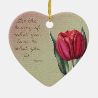 Inspirational Beauty Tulip Christmas Ornament