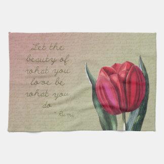 Inspirational Beauty Tulip Tea Towel