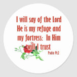 Inspirational bible quote designs classic round sticker