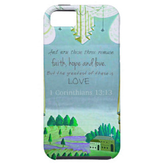 Inspirational Bible Verse about love 1 Corinthian iPhone 5 Covers