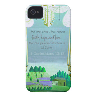 Inspirational Bible Verse about love 1 Corinthian iPhone 4 Covers
