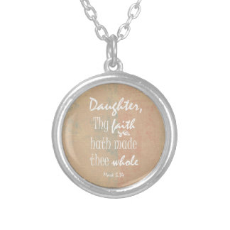Inspirational Bible Verse for Women Silver Plated Necklace