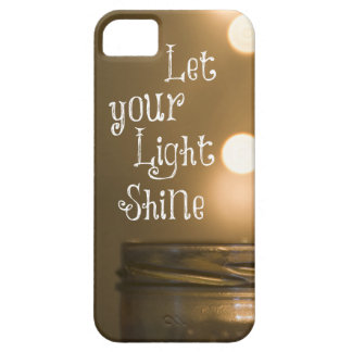 Inspirational Bible Verse Let your light shine Barely There iPhone 5 Case
