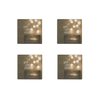 Inspirational Bible Verse Let your light shine Stone Magnet