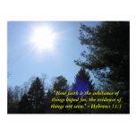 Inspirational Bible verse postcard