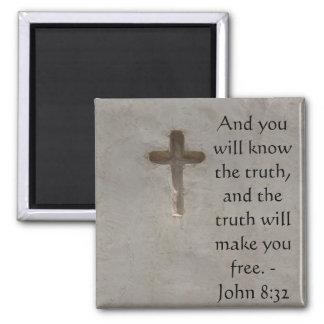 Inspirational Bible Verse TRUTH John 8:32 Magnet