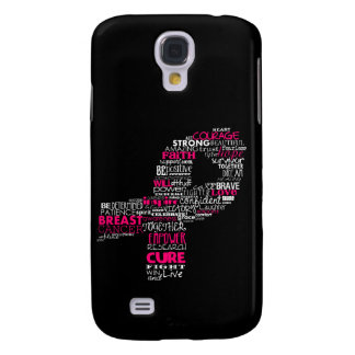 Inspirational Breast Cancer Awareness Ribbon Galaxy S4 Case