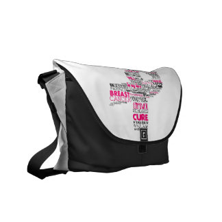 Inspirational Breast Cancer Awareness Ribbon Messenger Bag