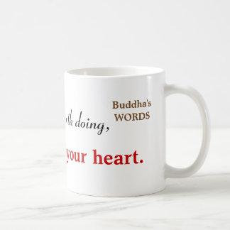 Inspirational Buddha Quote Typography Coffee Mug