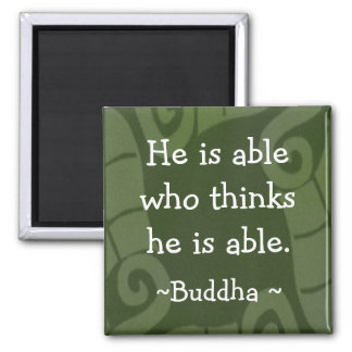 Inspirational Buddha Quotes Magnet-1 Square Magnet