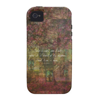 Inspirational Buddhist Quote with Dreamy painting Vibe iPhone 4 Covers