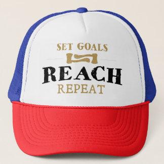 """Inspirational Cap """" Set Goals, Reach, Repeat"""""""