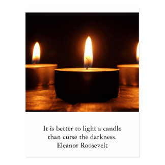 Inspirational card : light in darkness postcard