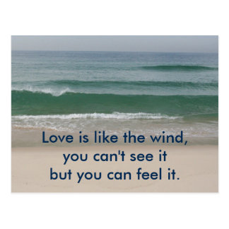 Inspirational card : Love is like the wind Postcard