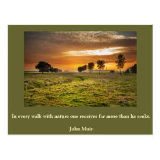 Inspirational card Nature 1 Postcard