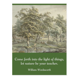 Inspirational card quote Wordsworth Nature Postcard